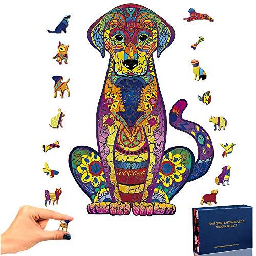 PrettyGift Puzzle in Legno Labrador Puzzle 3D Puzzle colorato a Forma di Animale Unico Puzzle in Legno Miglior Regalo per Adulti e Bambini, Collezione di Giochi per Famiglie