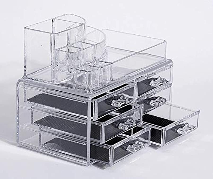 フリル文明化メダリスト化粧品収納ボックス メイクボックス 化粧品 収納 ニオイなし 騒音なし 防塵 高透明度 強い耐久性