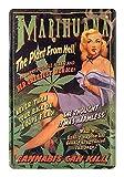helges-shop Blechschild Marihuana The Plant from Hell -