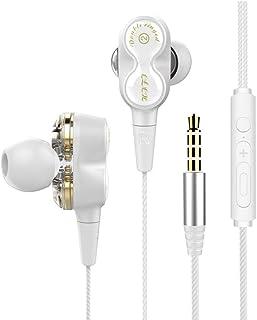 alwaysig Audifonos 3.5mm Manos Libres, Audífonos con Cable y Micrófono de Música Hi-Fi, Auriculares In Ear, Headphone Sonido Estéreo para iPhone, Samsung Galaxy, Huawei, XiaoMi, PC, MP3/MP4 Android
