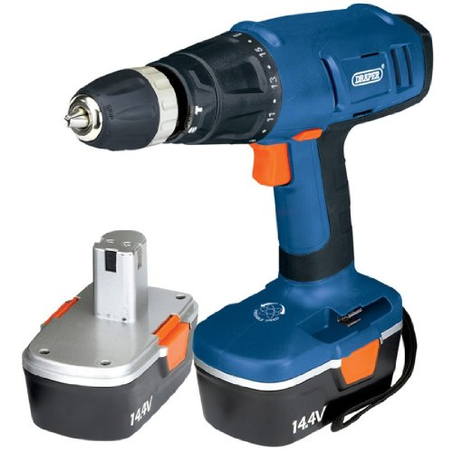 Draper 40763 14.4-Volt Cordless Hammer Drill with Two Ni-CD Batteries