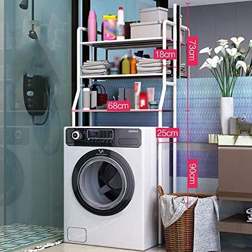lHishop Wäsche Aufbewahrung Aufbewahrungsregal Waschmaschinenregal Über Dem Toiletten-Aufbewahrungsregal Badezimmer-Raumwunder über Dem Waschmaschinen-Organizer-Gestell,White