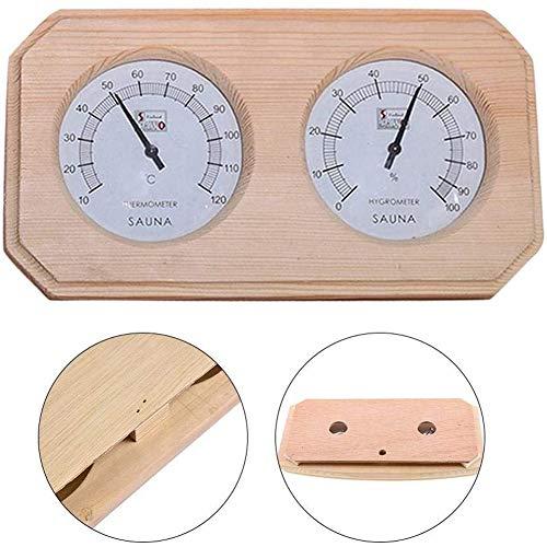 Sauna thermometer hygrometer, dubbele precisie vochtmeter, sauna accessoires van hout, 22 x 23 x 32 cm,Flesh