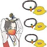 3/5/10セット2021年東京オリンピックチャンピオンの楊倖と同じ小さな黄色いアヒルのニンジンヘアピンヘッドロープ、シンプルでかわいいヘアアクセサリー、漫画の前髪クリップサイドクリップヘッドドレス (3セット)