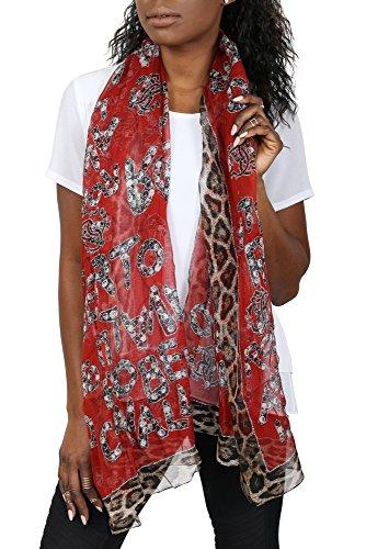 Roberto Cavalli Dames Shawl Silk Scarf Shawl Made Italy Dames sjaal Foulard IIAHY-Bordeaux
