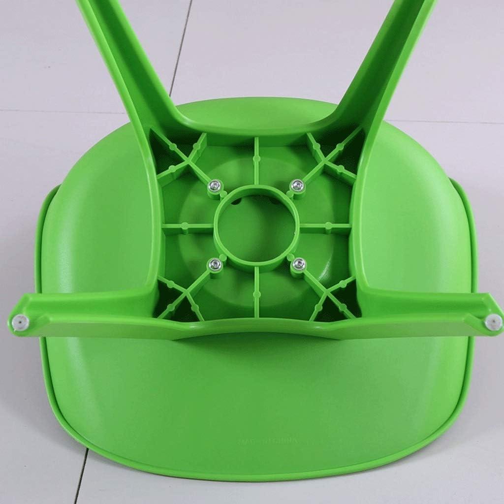 LSRRYD Chaise de Salle à Manger, Rétro PP Rembourrée Chaise de Salle de Bureau avec (Color : Green) Orange
