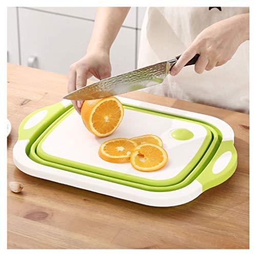 Tabla de cortar Multifuncional plegable Tabla de cortar hogar de materiales plásticos...