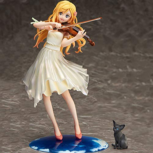 STKCST Anime Su Mentira en Abril Kaoru Miyazono Disfraz Figura Figura Figura Escultura Decoracin Estatua Mueca Modelo Modelo Figura Figura Altura 20 cm