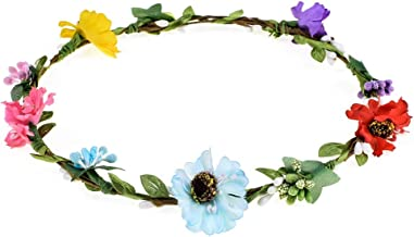 Vividsun Women's Flower Festival Wedding Hair Wreath Floral Crown Garland Halo