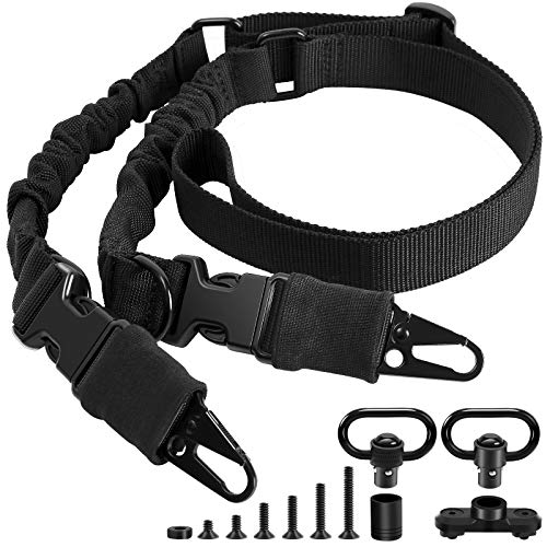 AIRSSON Tactical Rifle Sling: Adjustable Gun Slings with Swivels Mount, 2 Point Rifle Strap for Outdoors and Hunting