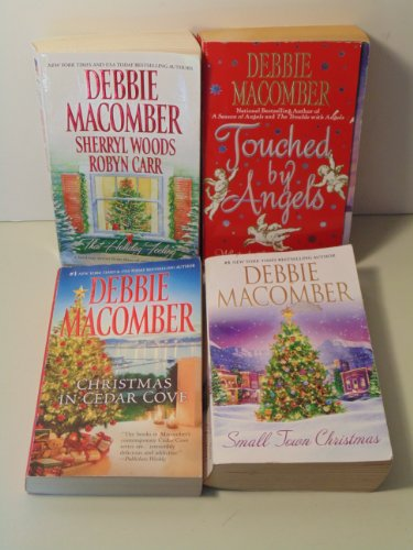 4 Debbie Macomber Christmas Paperbacks- Touched By Angels, That Holiday Feeling, Small Town Christmas, and Christmas in Cedar Cove