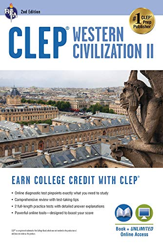 CLEP Western Civilization II Book + Online (CLEP Test Preparation)