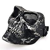 JNKDSGF Masque d'horreurBest Black Airsoft Full Face Protection Masque de sécurité...