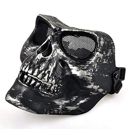 JNKDSGF HorrormaskeBeste Black Airsoft Vollgesichtsschutz Todesschädel-Sicherheitsmaske Zoom Vergrößern Davon Black Airsoft Vollgesichtsschutz