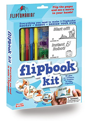Fliptomania Flipbook Kit: Rakete und Roboter