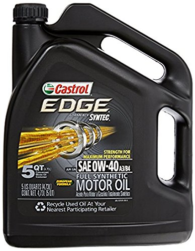 Castrol 03101 EDGE 0W-40 Synthetic Motor Oil - 5...