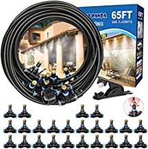 Mister System 65FT, Patio Misters for Cooling, Outdoor Misting System by DIY, Misters for Outside Patio, Canopy, Porch, Umbrella, Gazebo, Waterpark,Fan. Backyard Water Mister Kit for Garden Greenhouse