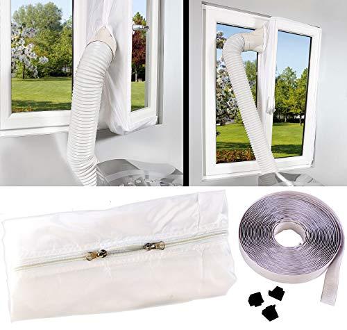 Sichler Haushaltsgeräte Fensterdichtung: Abluft Fensterabdichtung für mobile Klimageräte, Hot Air Stop (Klimagerät Zubehör)