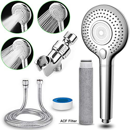 Showerheads & Handheld Showers with Hose & Replacement ACF Filters,3 Settings Filtered Shower Head,High Pressure & Water Saving Showerhead Body Sprays for Dry Skin and Hair Loss…