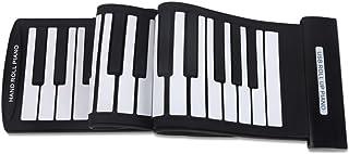 Decdeal Portable 61 Keys Flexible Roll-Up Piano USB MIDI Electronic Keyboard Hand Roll Piano