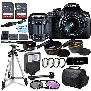 Canon EOS 2000D (Rebel T7) DSLR Camera w/Canon EF-S 18-55mm F/3.5-5.6 Zoom Lens + Case + Sandisk 128gb Ultra Memory Card…