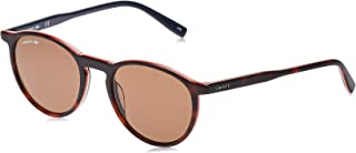 Lacoste Unisex Sunglasses Round LA Casual Elegance - Havana/Orange/White