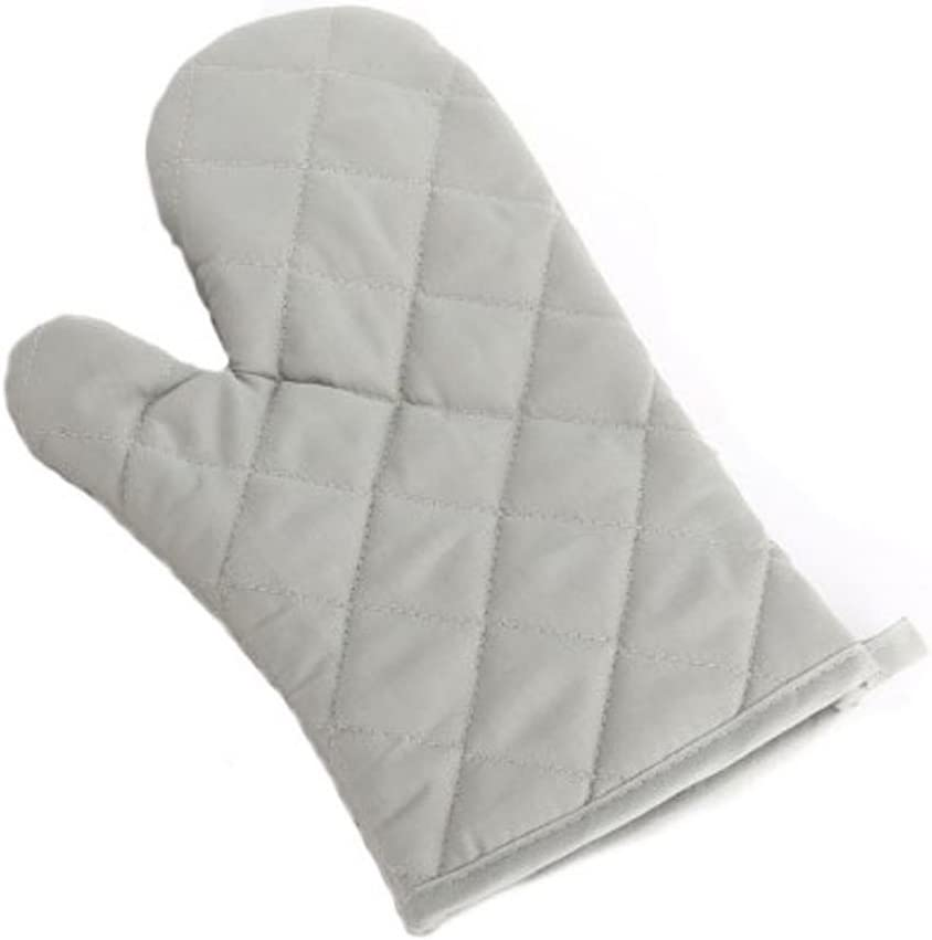 Paico Home Heatproof Microwave Oven Barbecue Gloves Mitts Lattice Grid Gray Size:28cm Length by 18cm Width - 1 Pack