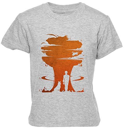 Nuclear Guerra Gris Unisexo Niño Niña Camiseta Manga Corta Tamaño M Kids Boys Girls T-Shirt Grey Size M