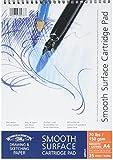Winsor & Newton 6689624 Spiralgebundener Skizzenblock, 25 Blatt, 150 g/m², DIN A4