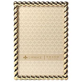 Lawrence Frames Rope Design Metal Frame 4x6 Gold