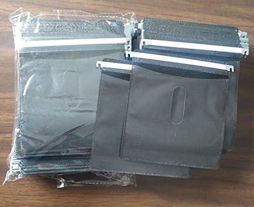 Premium Black Hanging CD DVD Plastic Refill Sleeves for Aluminum Media Storage Cases 200 pcs product image