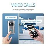Ballylelly Interfono per citofono senza fili Smart Night WIFI per visione notturna WIFI