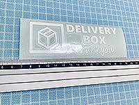デリバリーボックス サンキュー ステッカー2 ホワイト