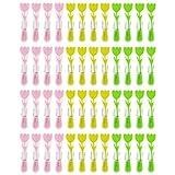 WELLGRO® Wäscheklammern Set mit Soft-Grip und starker Spiralfeder - Kunststoff