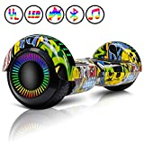 Huanhui Balance Board 6,5' Gyropode Smart Skateboard Électrique, LED Auto-équilibrage, Smart Scooter Overboard Sécurisé UL, pour Enfants und Adultes, Rose