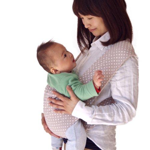 【日本正規品保証付】 Kiumibaby キウミの抱っこひも ドット・アプリコット (L)