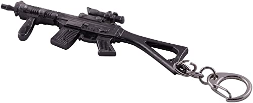 popular Mallofusa Mini Gun Keychain Sniper Rifle Model lowest Flint Gray Key sale Ring Keychain Fob Pendant(SG552) outlet sale