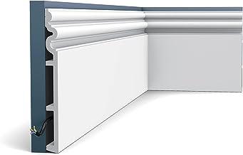 Plint Orac Decor SX193 LUXXUS AUTOIRESierlijst Lijstwerk neo-classicisme stijl wit 2 m