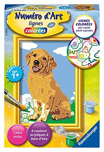Ravensburger – Numéro d'art mini format – Joli petit chiot – loisir créatif – kit de peinture acrylique – activite détente – enfant dès 7 ans – 28684