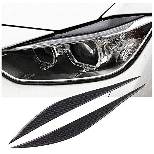 x xotic tech Carbon Fiber Headlight Eyebrows Eye Lid Sticker for BMW 3 Series F30 2013-2017