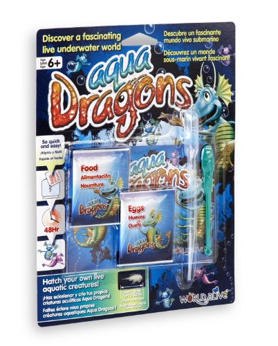 Aqua Dragons - Dragón de agua- Mundo Submarino Juguete Educativo, (World Alive W4004)