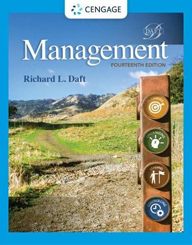 Compare Textbook Prices for Management MindTap Course List 14 Edition ISBN 9780357139752 by Daft, Richard L.