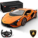 BEZGAR Officially Licensed RC Series, 1:14 Scale Remote Control Car Lambo Sián FKP 37 Electric Sport Racing Hobby Toy Car Model Vehicle for Boys Kids Teens and Toddler, Birthday Gifts