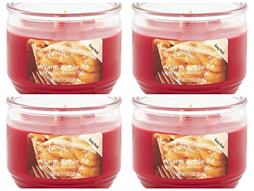 Mainstays 11.5oz Scented Candle, Warm Apple Pie 4-Pack