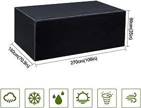 Gurkkst Funda Protectora para Muebles de jardín Funda Muebles Exterior Impermeable Anti-UV Protección Cubierta de Muebles de Mesas Oxford Negro (270 x 180 x 89cm)