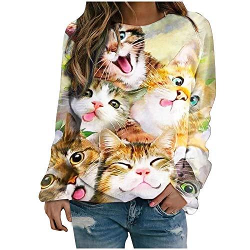 Damen Sweatshirt Langarm Pullover Strickpullover Langarmshirt Kapuzenpullover...