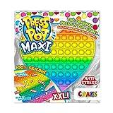 CRAZE Pop it-Fidget Toy-Juguete Anti Estrés-Corazón XXL Multicolor, niñas y Adultos (37454)
