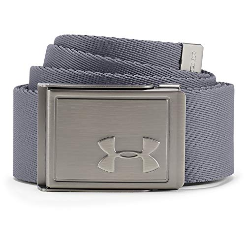 Under Armour Men's Webbing Belt 2.0 , Zinc Gray (513)/Silver , One Size Fits All