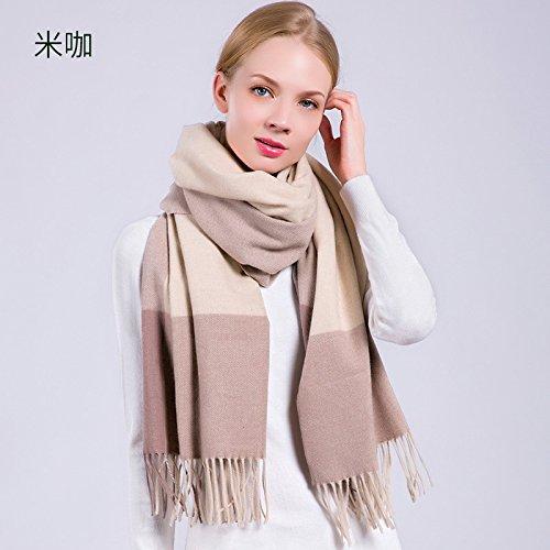 RENYZ.ZKHN Herfst En Winter Warm Lady Plaid Plaid Sjaal Met franjes Sjaal All-Match 70 * 180Cm