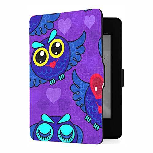 Funda para Kindle Paperwhite 1/2/3 Generation Good Night Cute Animal Painted Owl Cover Compatible con Fundas para Paperwhite Kindle PU Funda de Cuero con activación/Reposo automá